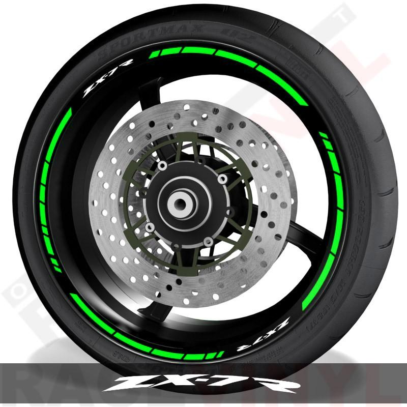 Accesorios y pegatinas para motos vinilos para perfil de llantas Kawasaki ZX7R speed