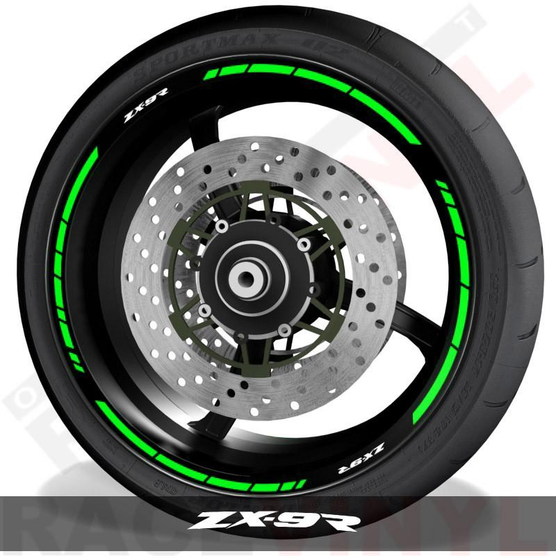 Adhesivos y accesorios para motos vinilos perfil llantas Kawasaki ZX9R speed