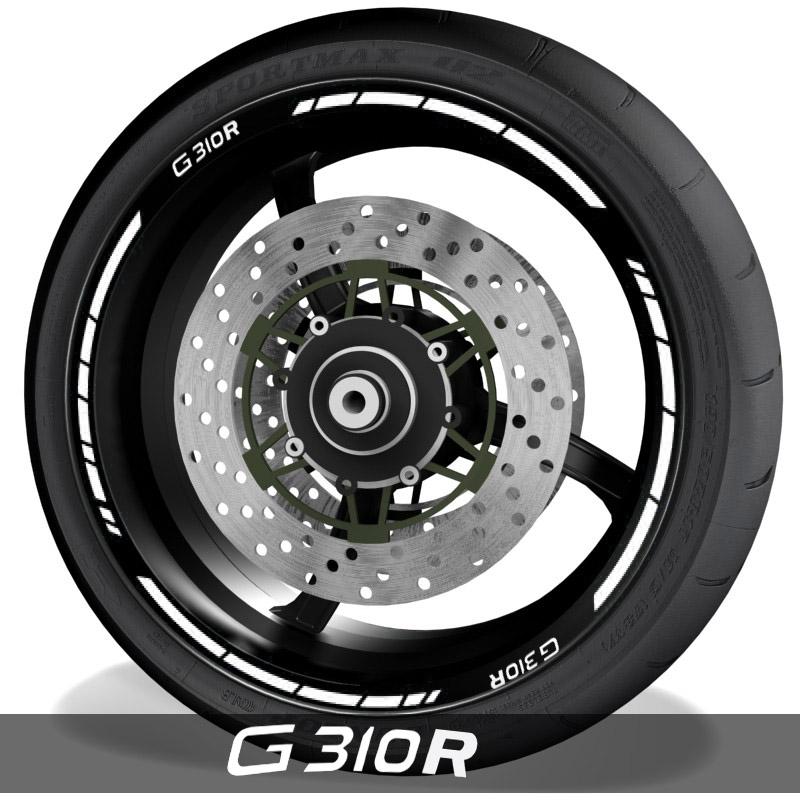 Pegatinas y accesorios de motos vinilo perfil de llantas BMW G310R speed