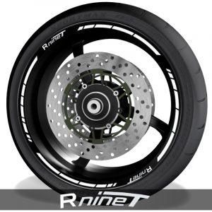 Pegatinas y accesorios para motos vinilos perfil llantas BMW RNineT speed