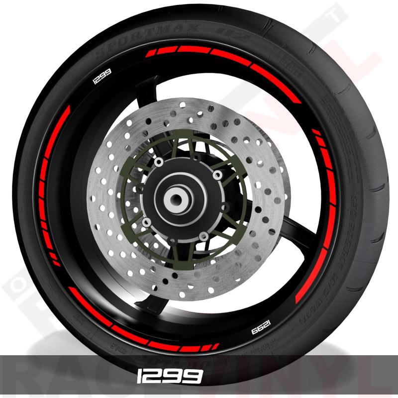 Pegatinas y vinilos adhesivos para el perfil de llantas Ducati 1299 speed