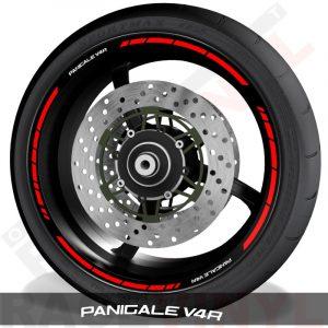 Pegatinas y vinilos adhesivos para el perfil de llantas Ducati Panigale V4R speed
