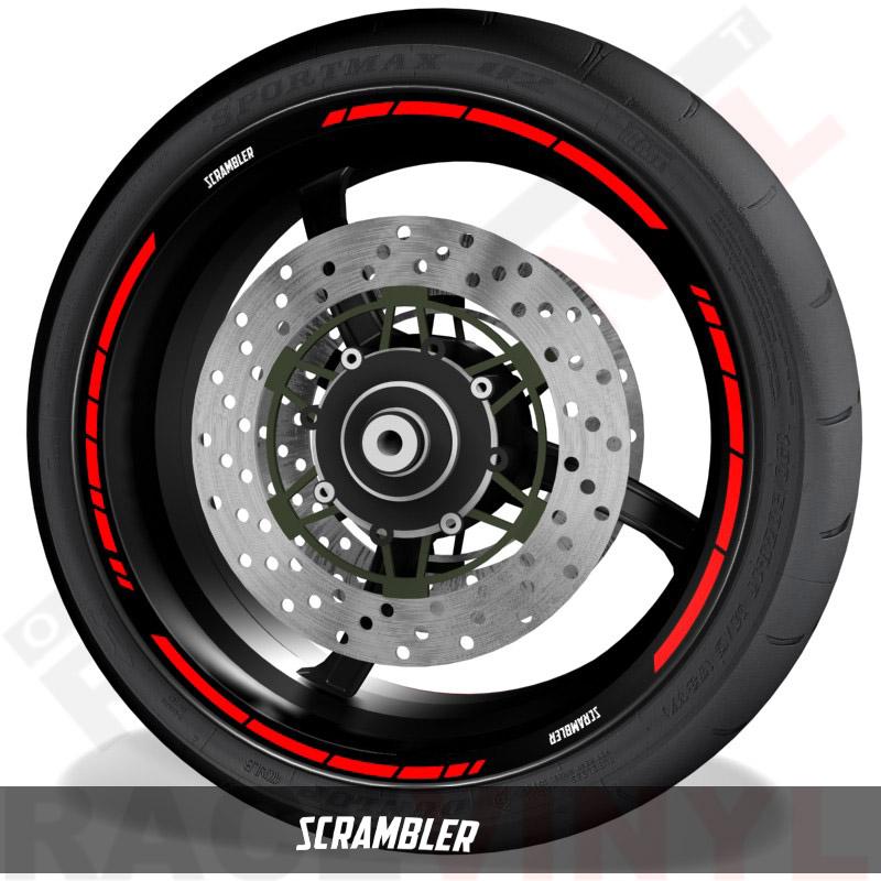 Pegatinas y vinilos adhesivos para el perfil de llantas Ducati Scrambler speed