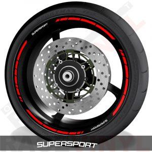 Pegatinas y vinilos adhesivos para el perfil de llantas Ducati Supersport speed