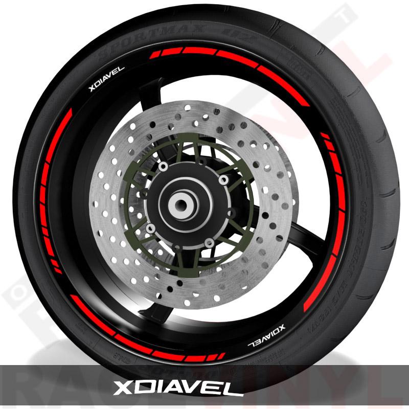 Pegatinas y vinilos adhesivos para el perfil de llantas Ducati Xdiavel speed