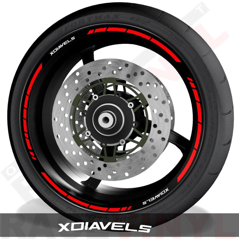 Pegatinas y vinilos adhesivos para el perfil de llantas Ducati Xdiavel S speed