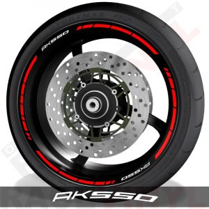 Pegatinas y vinilos adhesivos para el perfil de llantas Kymco Ak500 speed